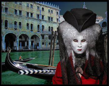Venise, Vaporettina au rialto