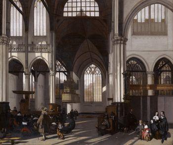 Emanuel de Witte Intérieur de la Oude Kerk d'Amsterdam