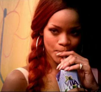 Rihanna promoting Madonna's Vita Coco in ''Man Down'' video