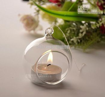 4 ideas for the ball in glass decorations of feast - Boule verre suspendu ...
