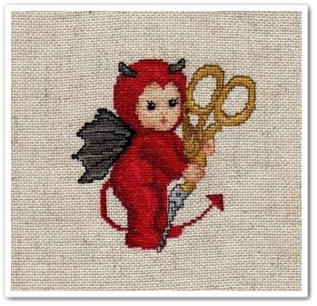 Littlestitch devil with scissors