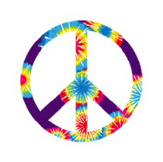 peace and love multicolore