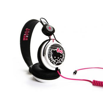 casque audio hello kitty noir et blanc boutique d 39 accessoires pour pour iphone ipod ipad. Black Bedroom Furniture Sets. Home Design Ideas