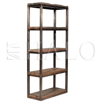 Axel Single Bookcase - Genuine Reclaimed Vintage Boat Wood