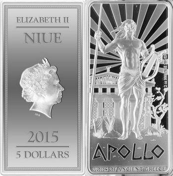 niue 2015 dieux apollo