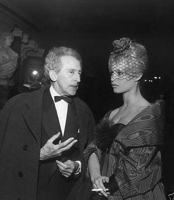 1958 - Avec Jean Cocteau