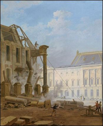 pierre drahonet demolition pavillon bout aile vieille 1814