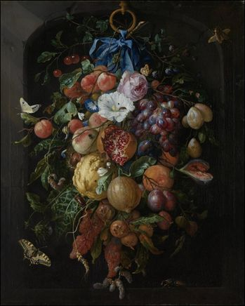 jan davidzs de heem feston fruits fleurs