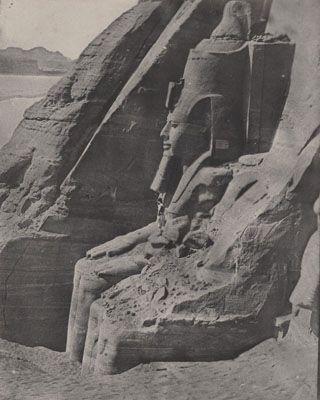 Du Camp Nubie Ibsamboul, Colosse Orientale du Spéos