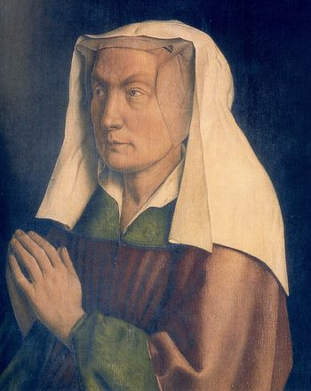 jan van Eyck adoration portrait de Lysbette