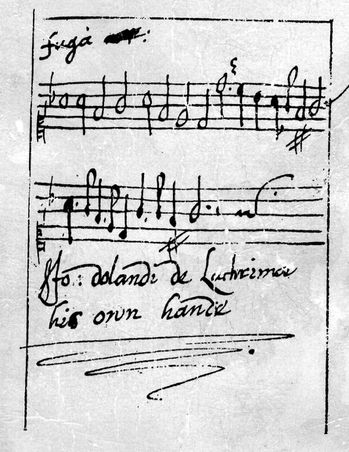Fuga John Dowland his own hand