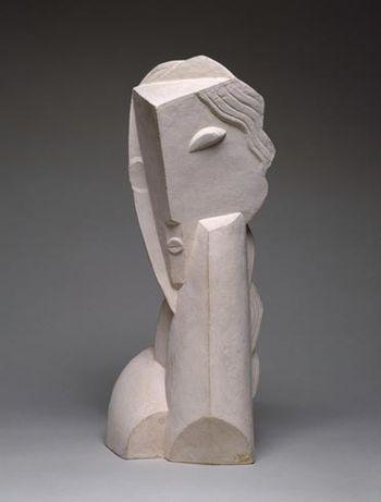 1 1920 Heni Laurens 1885-1954 Tête de jeune fille terre cu