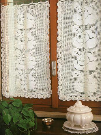 rideaux au point de filet
