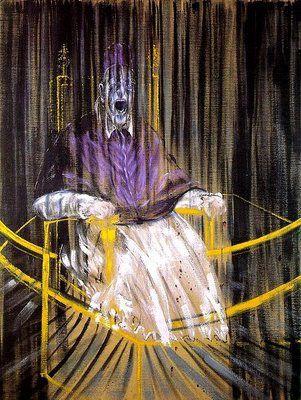 Bacon Etude d'après le portrait du pape Innocent X par Vel