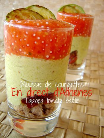 VERRINE MOUSSE COURGETTE TAPIOCA ++