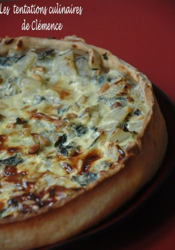 tarte blettes roquefort raisin