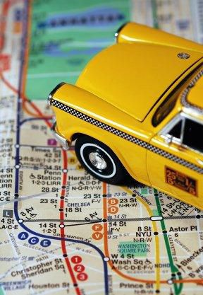 taxi and subway map