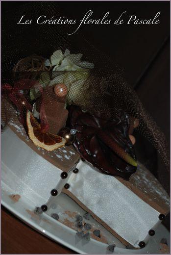 Gateau floral chocolat 44