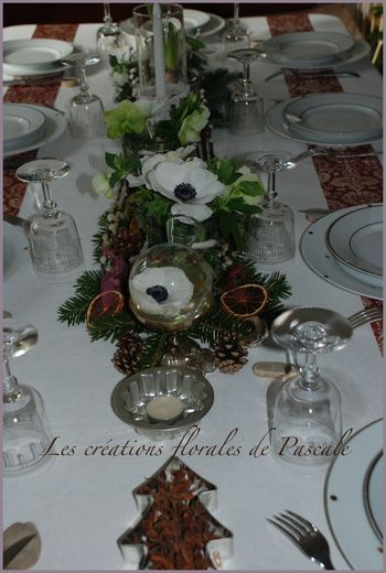 Table de Noël nature