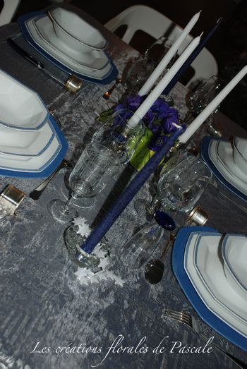 Table Noël bleu 219