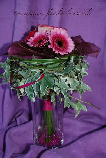 Bouquet de germinis roses