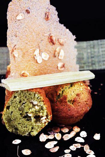 muffins au thé matcha