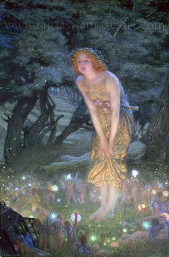 midsummer eve edward hughes fairies in art