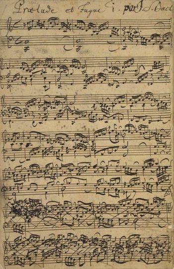 JS Bach Clavier bien tempéré Ms Londres Prélude en ut ma