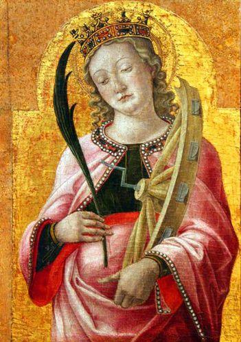 628c1b Bari, Vivarini, sainte Catherine d'Alexandrie