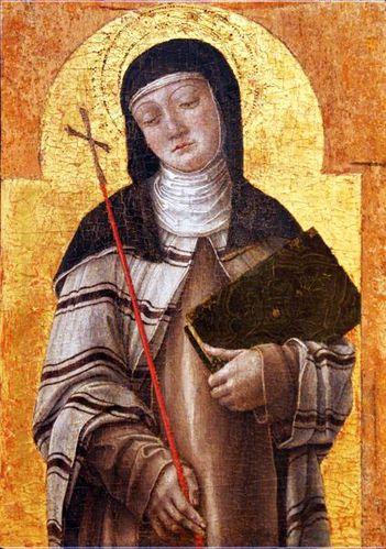 628c1c Bari, Vivarini, sainte Claire (santa Chiara)