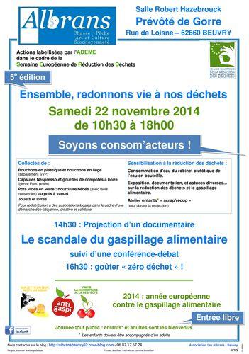 Affiche réduction des déchets 2014