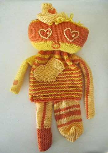 Doudou Amour Orange et Jaune