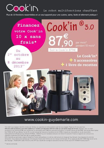 Offre Cook'in fin 2013
