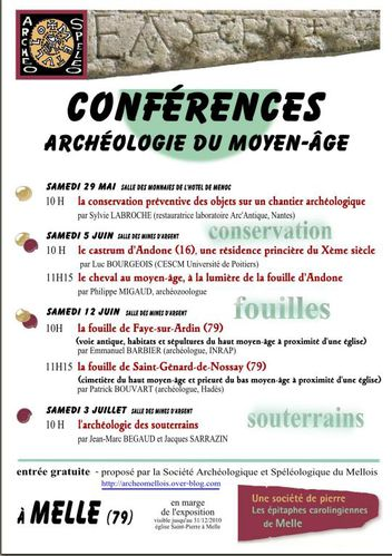 affiche conferences archeo mediev