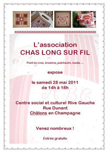 Affiche expo Chas Long sur Fil