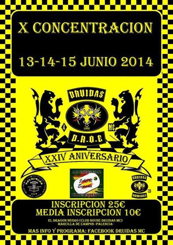 13 al 15 junio 2014 X concentracion druidas mc