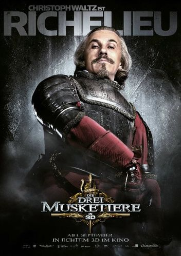 The Three Musketeers 2011 poster - Christoph Waltz as Card