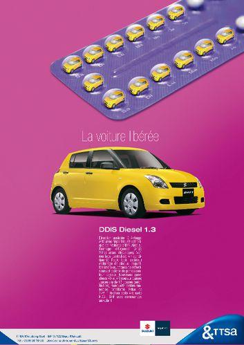 Publicité Suzuki Swift agence publicara