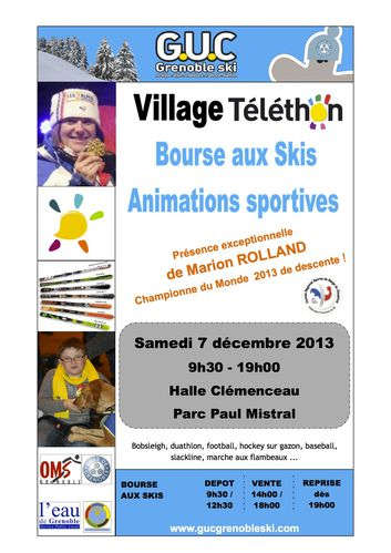 affiche bourse au ski 2014
