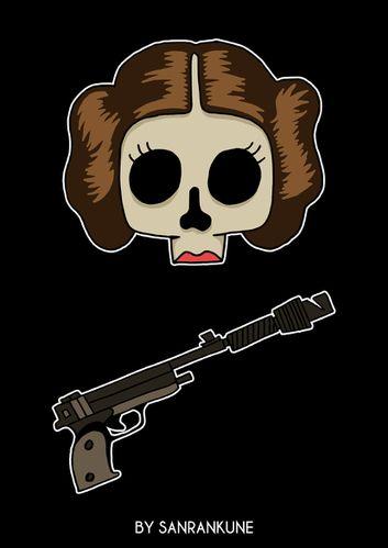 Dead_Leia_illustration_sanrankune_skull.jpg