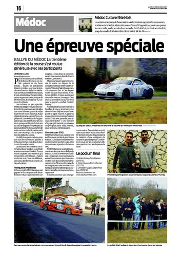 article sud ouest medoc