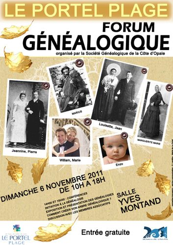 affiche forum genealogie