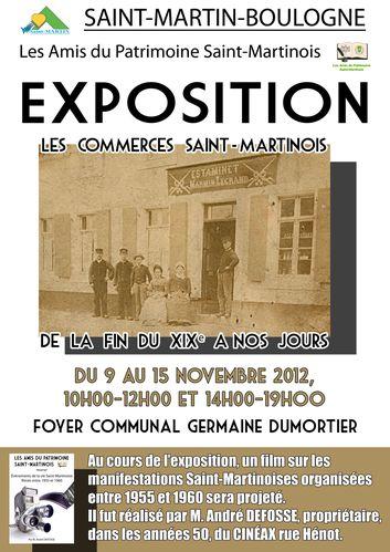 affiche Les Commerces Saint-Martinois