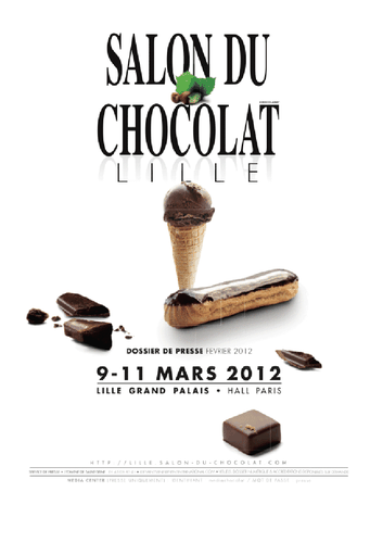 Invitations gagner pour le salon du chocolat de lille for Cuisinier lille