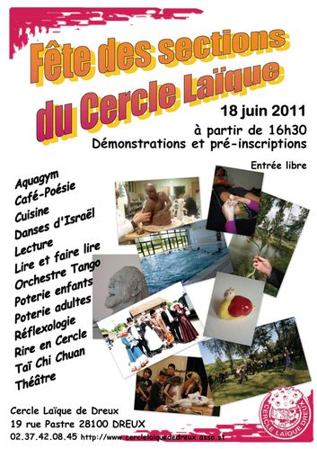 cercle laique affiche sections 2011