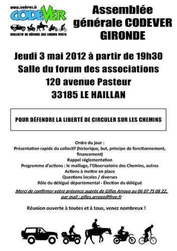 affiche Codever AG gironde 03-05-12