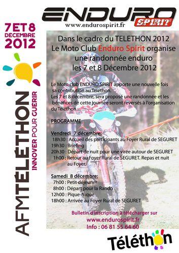 affiche enduro spirit telethon 7-8-12-12
