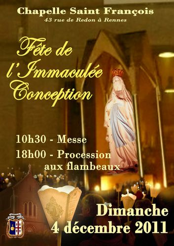 Immaculée conception 2011