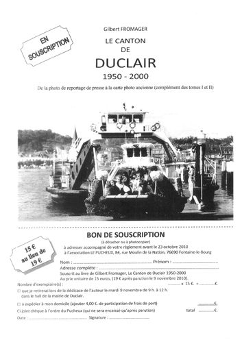 Canton Duclair G Fromager souscription
