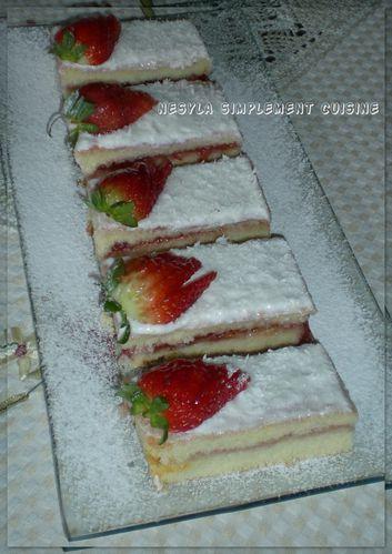 génoise aux fraise et chantilly